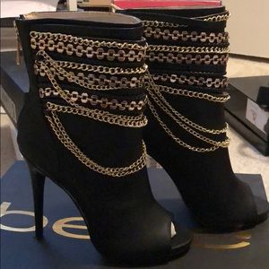 Black stiletto booties